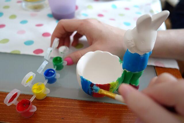 ceramika, malowanie, zajączek