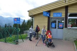 peron Gubałówka, niepełnosprawni, na wózku julkaimy